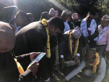 चिशंखुगढी गाउँपालिका-२, पोखरेमा पाँच सैयाको अस्पताल निर्माणार्थ शिलान्यास कार्यक्रम